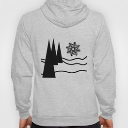 Christmas Trees and Snow Hoody