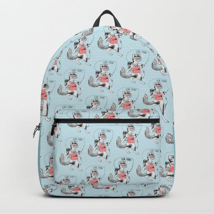 Cat gone Fishing Backpack