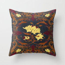 Victorian Vines Book Throw Pillow