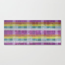 Rainbow Newspaper Canvas Print