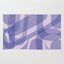 Abstract Formline Purple Rug