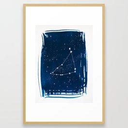 Capricorn Zodiac Print Framed Art Print