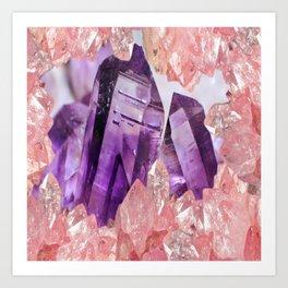 Pink Crystal Art Prints | Society6