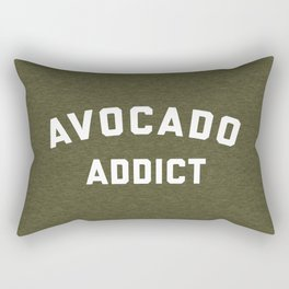 Avocado Addict Funny Quote Rectangular Pillow