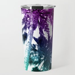 Retro Vintage Ombre Pop Art Los Angeles, Southern California Palm Tree Colored Print Travel Mug