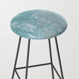 Galvanized Vintage Metal Blue Bar Stool