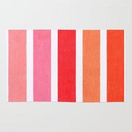 Pink & Orange Geometric Pattern Rug