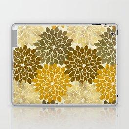 Golden Petals Pattern Laptop & iPad Skin