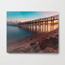 Shoreline Park Pier III Metal Print
