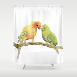 Parakeet - Friendship Shower Curtain