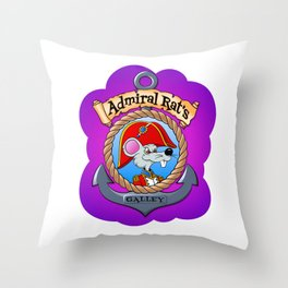 Admiral Rat's Galley Throw Pillow