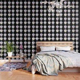 Cute sugar skulls B Wallpaper