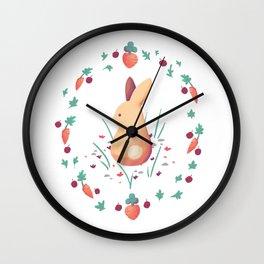 Cotton Rabbit Wall Clock