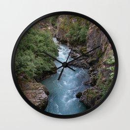 Alaska River Canyon - I Wall Clock
