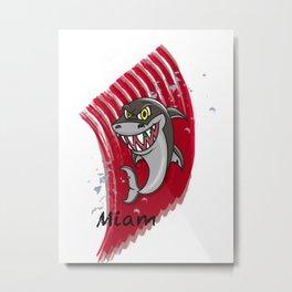 Requin mangeur Metal Print