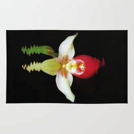 Lady Slippers Orchid Rug
