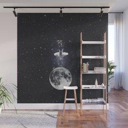Ballerina on the moon. Wall Mural
