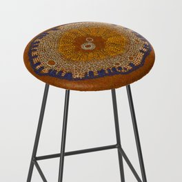 Growing - ginkgo - plant cell embroidery Bar Stool