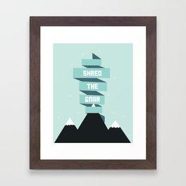 Shred the Gnar Framed Art Print