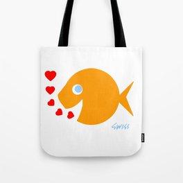 Cute Goldfish in Love Tote Bag