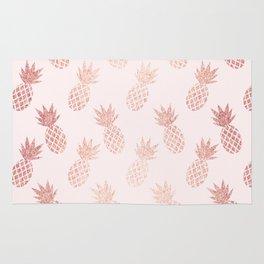 Rose Gold Pineapple Pattern Rug