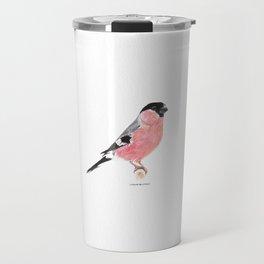 Siberian Bullfinch (white palette) Travel Mug