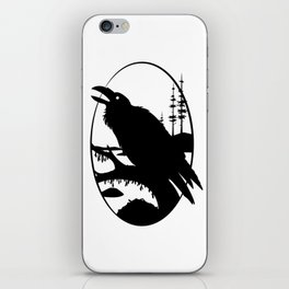 Raven Silhouette IV iPhone Skin