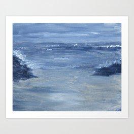 Monochromatic Seascape 1 Art Print