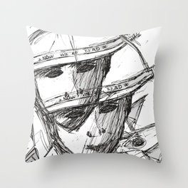 Now we're dead Throw Pillow