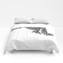 Typographic Maryland Comforters
