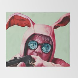 I'll shoot your eyes out Throw Blanket