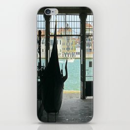 Gondola on Giudecca Island, Grand Canal, Venice iPhone Skin