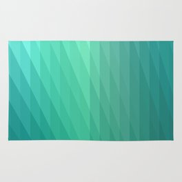 Fig. 043 Mint Green Geometric Diagonal Stripes Rug
