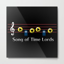 Song of Time Lords Metal Print