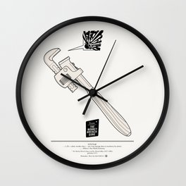Team The Monkey Wrench Gang Wall Clock