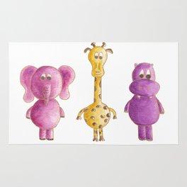 Colourful animals Rug