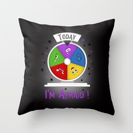 I am Afraid Throw Pillow
