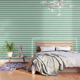 Asda Green (1994) - solid color - white stripes pattern Wallpaper