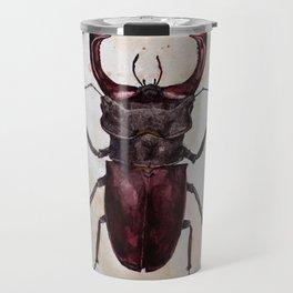 Stag beetle painting Travel Mug