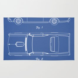 PONTIAC GTO patent print, pontiac gto poster, muscle car decor, pontiac gto blueprint Rug