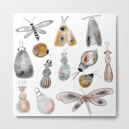 busy bugs Metal Print