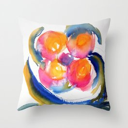 Peace Flower watercolor by CheyAnne Sexton Throw Pillow