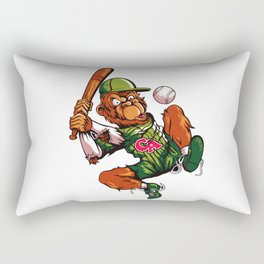 Baseball Monkey - Limerick Rectangular Pillow