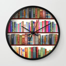 Jane Austen Vintage Book collection Wall Clock
