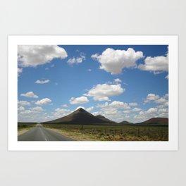 Roadtrip North Art Print