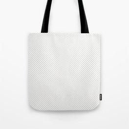 Creamy Tofu and White Mini Check 2018 Color Trends Tote Bag