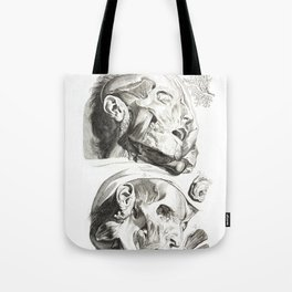 Human Anatomy Art Print HEAD MUSCLE FACE Vintage Anatomy, doctor medical art, Antique Book Plate, Me Tote Bag