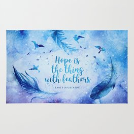 Hope is the thing with feathers Rug