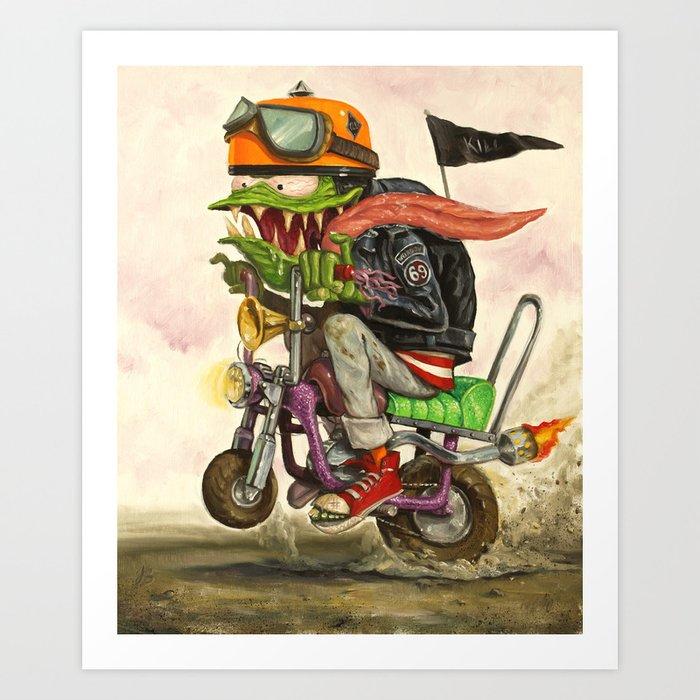 Minibike Weirddoh Art Print
