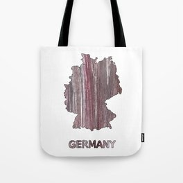 Germany map outline Deep Taupe watercolor Tote Bag